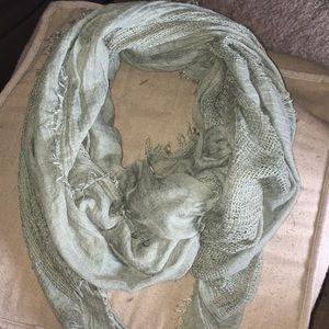 EUC sage green lightweight oversized scarf